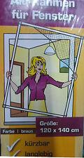 Hecht Culex Alu Insektenschutz Fenster,Fliegengitter 120x140 braun,NEU