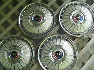 1962 62 FORD FAIRLANE GALAXIE HUBCAPS  WHEELCOVERS CENTER CAPS VINTAGE CLASSIC
