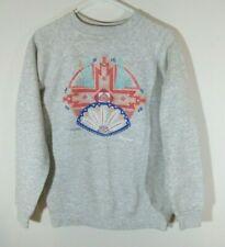 Vintage 90s Hanes Her Way Womens Size L Crewneck Sweatshirt Grey Made in USA