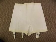 Flexnit Vtg 1950s 60s NEW NOS White Rayon Rubber Girdle Panties w/ Garters XL