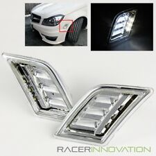 For 08-11 Mercedes Benz W204 C-Class Clear Bumper LED Side Marker Lights Lamps