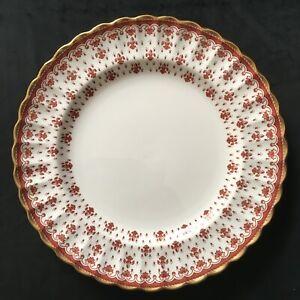Rare Spode Fleur De Lys Red Large 27cm Dinner Plate(s) 4 Left
