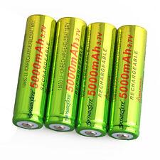 4pcs SKYWOLFEYE BRC 5000mAh Li-ion 3.7V Rechargeable Batteries 18650 Battery USA