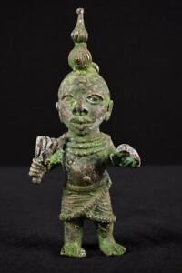 14141 Bronze: Afrikanische Alte Benin Wurdentrager Nigeria