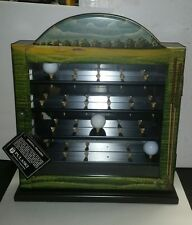 Pulaski Brand Golf Ball Display Cabinet Tee Hand Painted Wall or Free Standing