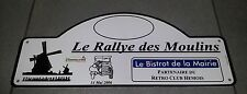 PLAQUE LE RALLYE DES MOULINS RETRO CLUB HEMOIS 2006 CITROEN TRACTION JEEP US
