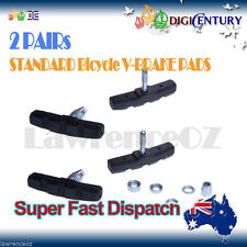 2 PAIRs STANDARD Bicycle V-BRAKE PADS for hybrid/Comfort/Mountain Bikes