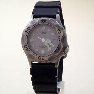 CASIO Diver Watch MD-804 Quartz Date [708] W.R 20Bar Rubber strup