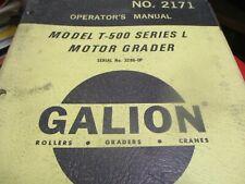 Galion T-500 Series L Motor Grader Operators Manual