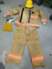 Morning Pride Turnout Jacket 46 Chest Pants 36 X 30 Bullard Helmet Fx New Gloves