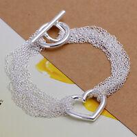 Damenarmband Schmuck 20 cm Damen Armband / NEU pl. mit Sterlingsilber DA066 T::A