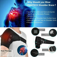 Adjustable Heated Shoulder Wrap Pad Shoulder Support Brace Therapy Pain Relief