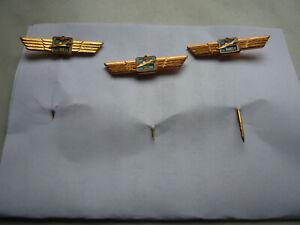 1 Satz Klassifizierungsabzeichen - Flugzeugführer ( Stufe I , II , III ) , KVP