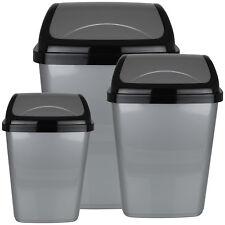 Mülleimer Klappdeckel Kosmetikeimer Abfalleimer Papierkorb Bad Küche Müllsammler