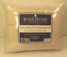 Bare Home Ultra-Soft Premium Goose Down Alternative Comforter Set, T/XL, Sand