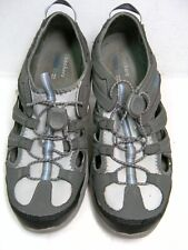 Skechers Womens Water Hiking Shoes Size 7.5 Gray Leather & Textile #U