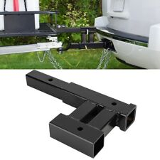 Dual Trailer Tow Hitch Mount Receiver Bar For Automotive Rack Accessories Steel