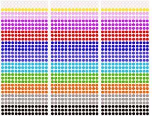 (0,0044€/Stk) 448 Stk Klebepunkte - Markierungspunkte 5 mm Aufkleber Inventur