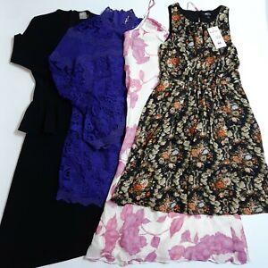 Ladies 4-Piece Occasion Formal Party Dresses Size 8 Black Purple Floral ASOS M&S