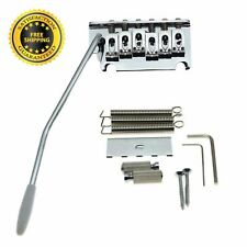 Tremolo Bridge 2 Point Strat Style Guitar Locking System Springs & Claw Chrome