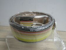 Paul Smith Men's Leather Striped Colour Belt 42'/105cm New BNWB