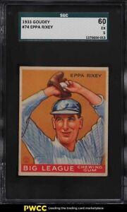 1933 Goudey Eppa Rixey #74 SGC 5 EX