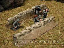 """""""RETIRED"""" Build-a-Rama 1:32 Hand Painted WWII Sandbag Trench Set"""