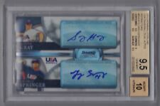 2010 Bowman Sterling Sonny Gray George Springer Refractor Auto Rc /99 BGS 9.5/10