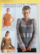 New listing Trendsetter Yarns: Pattern Booklet #4504: Holiday Sparkle: Wide Variety Designs