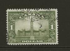 CANADA SG285 KGV $1 Olive Green Parliament Fine Used CDS Cat £80