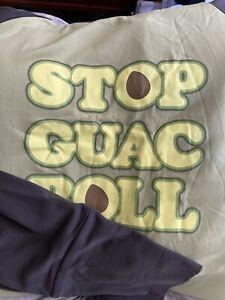 "lularoe amber hoodie medium ""Stop Quac and Roll"" Marshmallow"