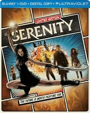 SERENITY New Sealed Blu-ray + DVD Unrated Limited Edition Steelbook Packaging