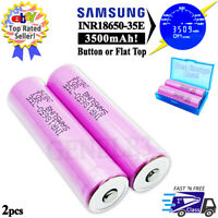 2pc Samsung 3500mAh INR 18650 35E 3.7V Rechargeable Battery 13A High Drain - USA