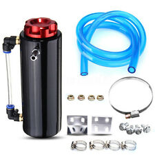 Aluminum Cylinder Engine Oil Catch Reservoir Breather Tank Can Recycling Black