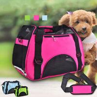 Sport Style Dog Carrier Handbag Pet Cat Pup Front Mesh Travel Tote Shoulder Bag