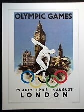 1948   Olympic Poster  LONDON, ENGLAND