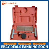 NEW 35 Pieces Tire Repair Tool Kit W/Case Plug Patch
