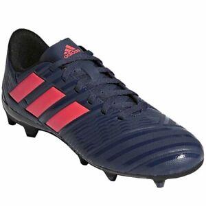 New Womens Adidas Nemeziz 17.4 FG Firm Ground Soccer Cleats Blue / Red Sz 6.5 M
