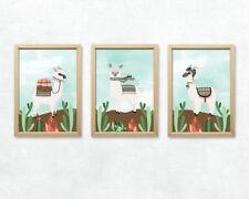 Alpaka Bild Set Südamerikanische Kamel Tiere Anden Peru Dekoration Kunstdruck A4