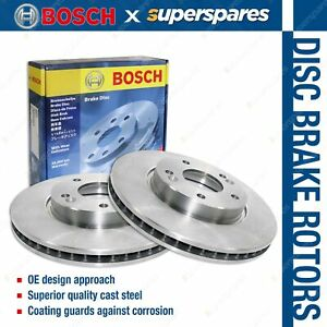 2 x Bosch Front Disc Brake Rotors for BMW X5 E70 F15 2.0L 3.0L X6 F16 DOHC