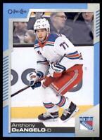 2020-21 UD O-Pee-Chee Blue Border #163 Tony DeAngelo - New York Rangers