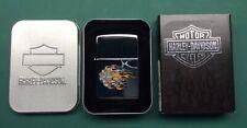 More details for genuine 2004 zippo harley-davidson flames logo - 250hd.h260 h-d flames log - new