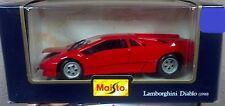 Maisto 1:24 1990 Lamborghini Diablo Diecast- Red NIB New Vintage Classic Sports