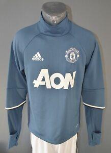 Manchester United Football Sweatshirt Training Tracksuit 2016/2017 Mens Size S