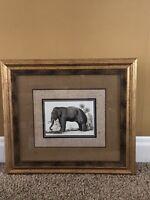 Beautiful Large Elephant Safari Animal Framed Picture