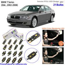 21 Bulb Deluxe LED Interior Light Kit Xenon White For 2002-2008 E66 BMW 7 Series