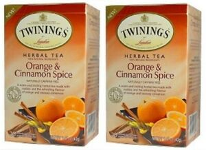 Twinings Of London Orange & Cinnamon Spice Herbal Tea 2 Box Pack