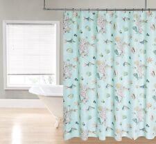Aqua Blue Shells & Fish Ocean Coral Fish Tropical Fabric Shower Curtain