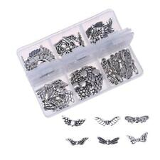 60pcs/Box Butterfly Angel Wings Charms Pendants Beads Jewelry Making DIY Decor