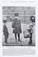 Yeoman Porter of the Tower of London - Antique Photographic Print 1896